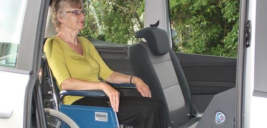 VW Sharan Wheelchair Location
