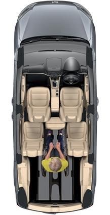 VW Sharan Wheelchair WAV Layout