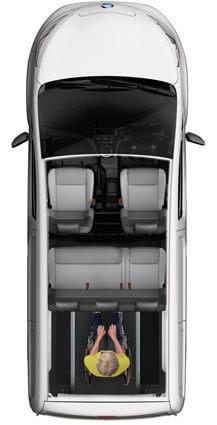 Nissan eNV200 WAV layout