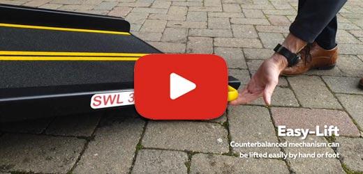 Counterbalanced wheelchair ramp