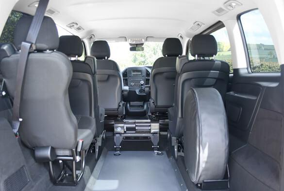 Mercedes Vito WAV Interior Wheelchair Space